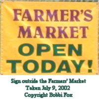 [Farmer's Market on Elm Street  in West Newton open today from 10:00 a.m. to 2:00 p.m.].